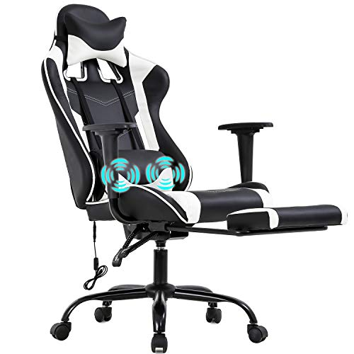 PC Gaming Chair Racing Office Chair Ergonomic Desk Chair Massage PU Leather...