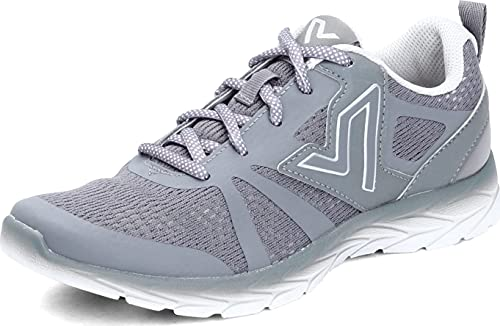Vionic Women's Brisk Miles Leisure Sneakers- Supportive Walking Shoes That Include Three-Zone Comfort with Orthotic Insole Arch Support, Sneakers for Women, Active Sneakers Grey 10 Medium US