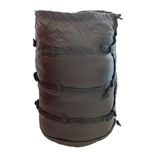 【YOGOTO】コンプレッションスタッフバッグ 寝袋圧縮袋 大容量 軽量 圧縮バッグ 着替え圧縮袋 (ブラック(大))