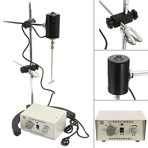 Guo 3000rpm Mezclador de Control Doble 100 W Mezclador de Laboratorio Eléctrico Agitador Agitador Ajustable Churn Stir Machine Batidoras Agitador de Laboratorio