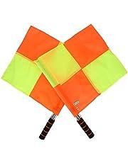 VGEBY1 Bandera de Linesman, 2PCS Brightley Colorful Sports Match Soccer Fútbol Hockey Árbitro Lineman Flag con Bolsa de Almacenamiento