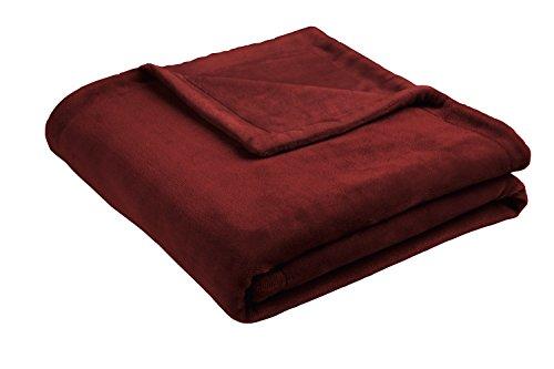 biederlack Island Decke, Polyester, rot, für französisches Bett, 200x 150cm