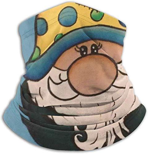 xiangyan11 Niedliche Gnome Weihnachten Unisex Mikrofaser Halswärmer Kopfbedeckung Gesicht Schal Maske Für Winter Kaltwetter Maske Bandana Sturmhaube