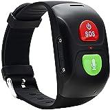 naack Pulsera Actividad, smartwatch, Reloj Inteligente Impermeable IP68 Pulsómetro Comunicador + Localizador SOS Móvil, Localizador GPS Personas Mayores/Abuelos/Ancianos/niños, Android, iOS