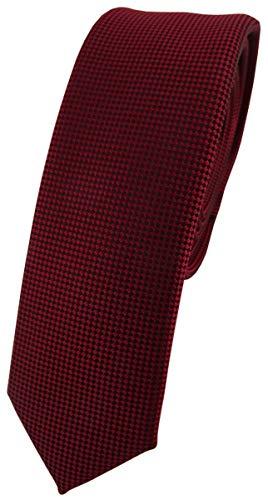 TigerTie - corbata estrecha - burdeos púrpura lunares