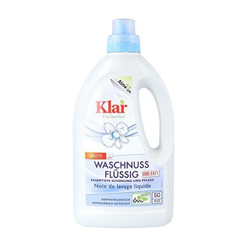 Klar Waschnuss sensitive, Flüssigwaschmittel, 1,5 L