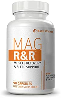 SaltWrap Mag R&R - Prevent & Relieve Night Leg Cramps, Spasms, Tension & Muscle Pain - Natural Muscle Relaxer Supplement w...