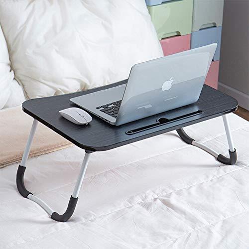 KJ Laptoptisch Betttisch Tablett Laptoptisch für Bett Kleiner Klapptisch,Frühstueck Notebooktisch,Bücherregal Faltbare Beine, Laptop Tisch