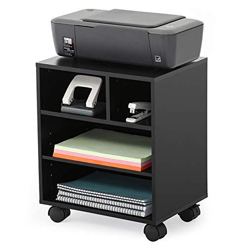 FITUEYES Soporte para Impresora con Ruedas Armario Estantería Negro PS404001WB …