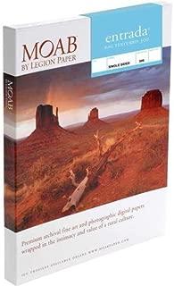 "Moab Entrada Rag Textured 300 Matte Surface Single-Sided Inkjet Print Paper, 22.5mil, 300gsm, 5x7"", 25 Sheets"