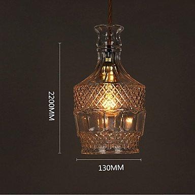 Kejing Moderne Kronleuchter Deckenleuchten Anhänger 10-15 Quadrat E27220V22 * 13 cm Romantische Flasche Kreative Kunstglas Kronleuchter Lampe Led 3C Ce FCC Rohs für Wohnzimmerschlafzimmer