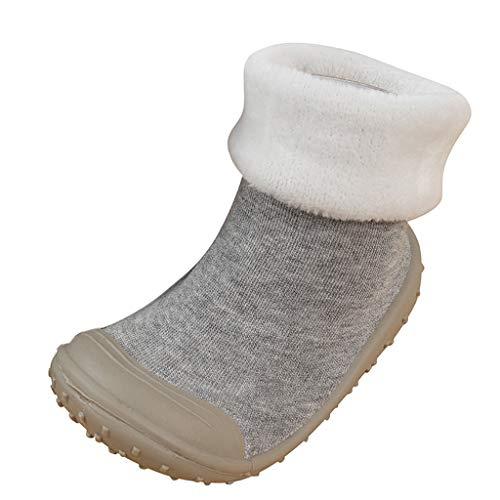 Jaysis Baby warme Socken Schuhe Mädchen Jungen Einfarbig Turnschuhe Auflade Sportschuhe leichte Prewalker Schuhe Weiche Sohle Atmungsaktiv Schuhe Bequeme Trekkingschuhe
