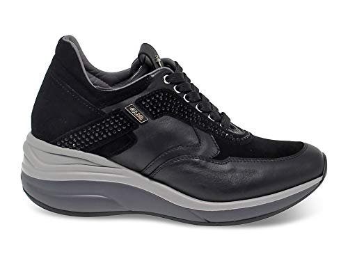 4US CESARE PACIOTTI Luxury Fashion Donna 4USED3WNMBLACK Nero Sneakers | Autunno Inverno 19