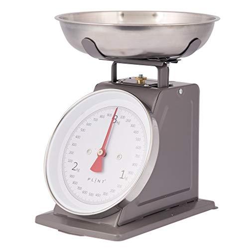 PLINT - Báscula de cocina (metal), diseño retro, color negro