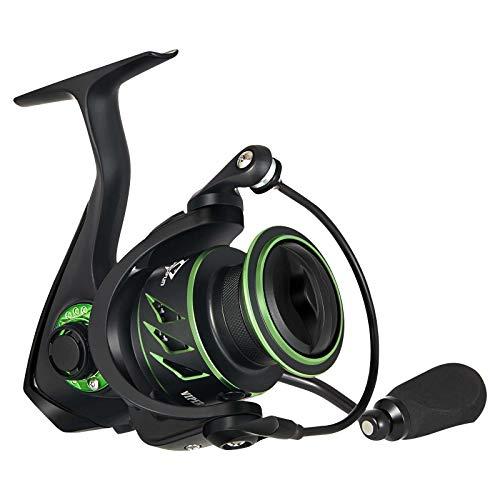 Piscifun Viper X Spinning Pesca Carrete 2000-6.2:1 Carrete de pesca de alta velocidad, 10+1BB, ligero ultra suave Spin Reels, fibra de carbono 35 lb Max Drag