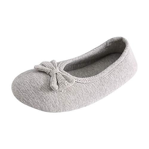 Daytwork Zapatos de Bailarina para Mujer - Zapatillas de algodón Suave materno...
