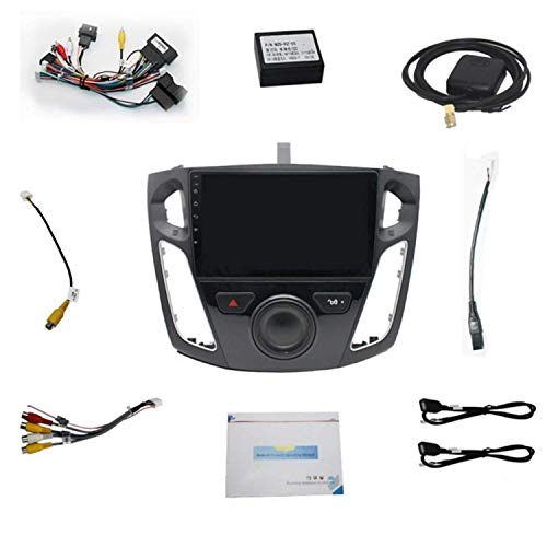 HYCy para Focus 2012-2017 9 Pulgadas Android 9.1 Car Stereo Radio GPS MP5 Player WiFi FM,