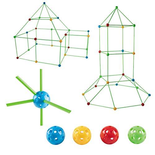 Xizhan DIY Zelt Spielzeug, Bauset Lernspielzeug, Kinder Schloss Bauen, Fort Konstruktions Spielzeug, Festung Spielzeug, Baukasten Für Jungen Mädchen, Zelt Bausteine Spielzeug (Ohne Zelt)