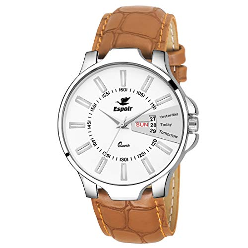 Espoir Day and Date Series White Dial Day & Date Analogue Boys and Mens Watch-Oliver0507