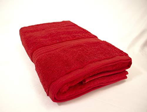 PimpamTex – Toalla Premium Extra Grande de baño 100% Algodón 100x150 cm – (Rojo)