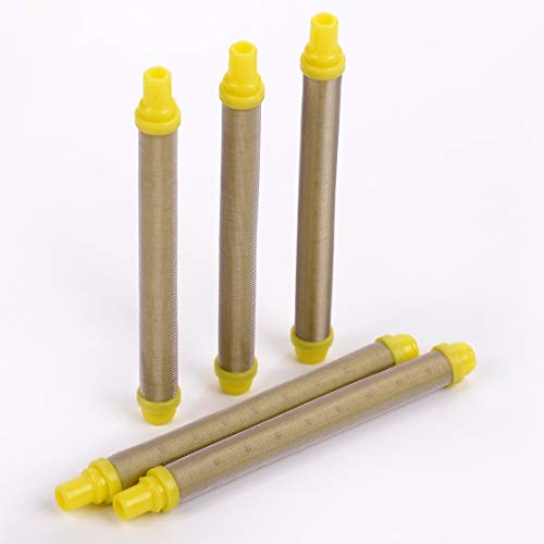5 Pieces Wagner Airless Paint Sprayer Gun Filter 100 Mesh 0089324, 581-062 Push on Type