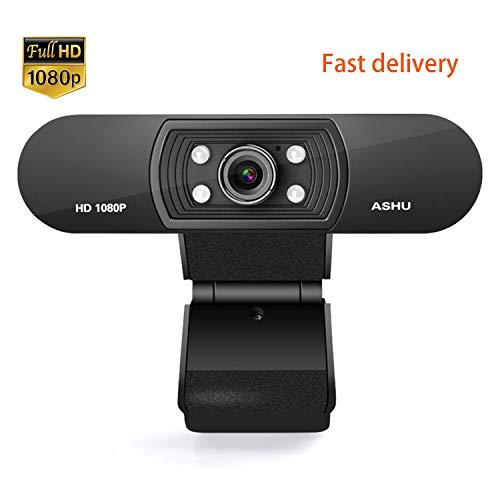 USB Webcam met Microfoon 1080P PC Webcam HD Camera voor Laptop Gratis Driver Installatie voor Video Calling, Conferentie, Skype, Gaming, Opname voor Pc Laptop Ondersteunt Windows Mac Os