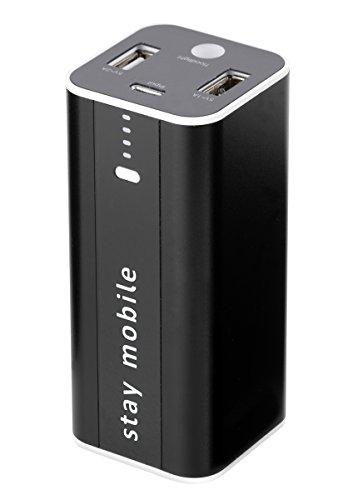 stay mobile Power Bank 12000 mAh (neueste Technologie) mit 2 USB Ausgängen Externer Akku und Handy Ladegerät für iPhone, iPad, Samsung, Smartphones und Tablets akkupack
