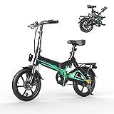 HITWAY Bicicleta eléctrica GEARSTONE, Ligera, 250 W, Plegable, eléctrica, con Asistencia de Pedal, con batería de 7,5...