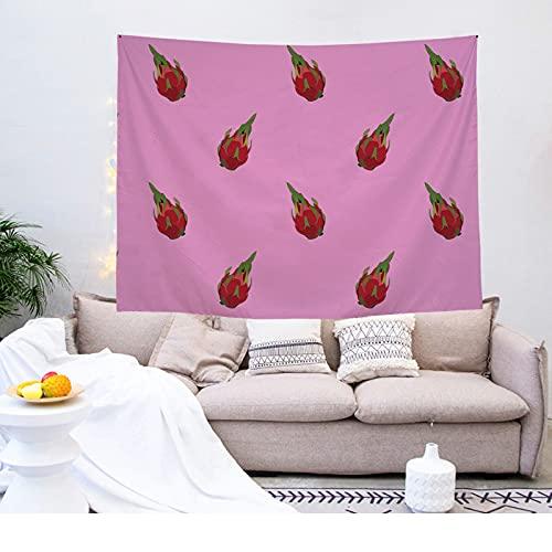 YDyun Tapiz,en algodón Puro,Ideal para Colgar en el cabecero de la Cama Impresión de tapices de Frutas para el hogar
