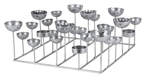 Gift Company Kerzenhalter Kerzenleuchter Medusa Silber quadratisch, 34x34x12 cm