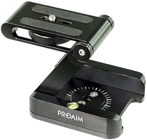Proaim Z-Flex Desktop Stand Holder Foldable Pan & Tilt Head for DSLR Video Cameras up to 3.5kg/7.7lb | Best Portable Camera Accessory for Table top, Tripod Stand, Slider (P-Z-STD)