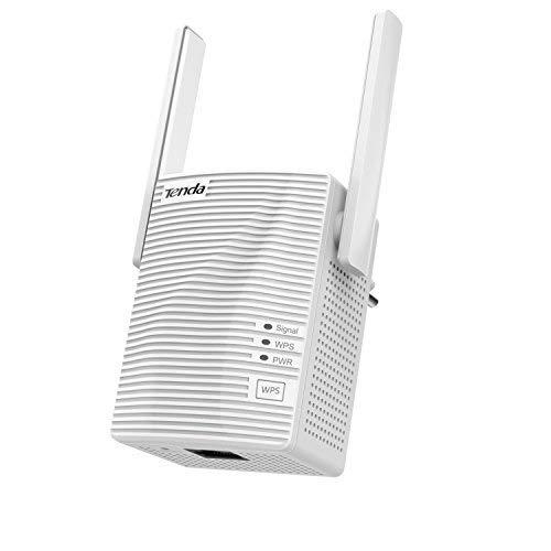 Tenda A18 Ripetitore di rete Amplificatore di copertura WiFi (1200 AC, Dual Band 2,5 GHz 5 GHz 100 Mps, Porta Fast Ethernet, Doppia Antenne)