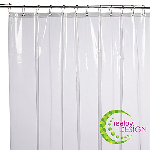 Badezimmer Duschvorhang Transparent Durchsichtig Wasserdicht - Vorhang für Dusche und Badewanne 180x180 Shower Curtains Design Schimmelresistent Wasserdicht Antibakteriell und Geruchsneutral