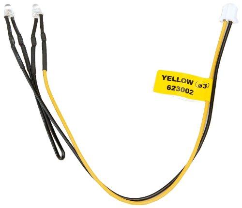 Graupner 98028.3 - LED gelb 3mm, 2 Stück mit Anschlusskabel