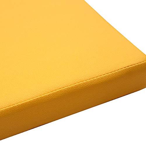 NSXBY Cuscino Divano in Pelle Copre Stretch Pu Seat Cushion Protector Impermeabile (1 Posto)-Giallo 45x45x5cm(18x18x2inch)