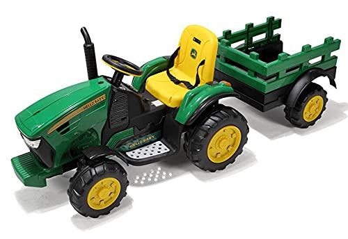 ZHBD 12V Ride En Tractor con Remolque, Vehículo Agrícola Eléctrico Eléctrico con...