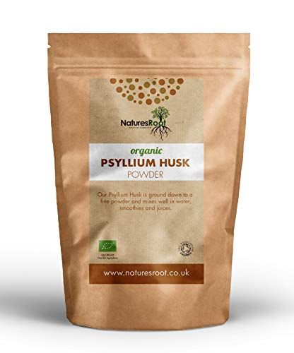Nature's Root Organic Psyllium Husk Powder - Non-GMO | Natural Source of Soluble Fibre | Fine Milled in India | High Nutritional Value | Resealable Pouch (250g)