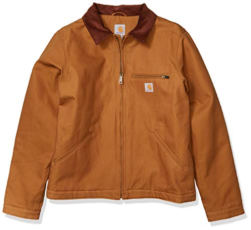 Carhartt Men's Duck Detroit Jacket Outerwear, -Carhartt Brown, Large