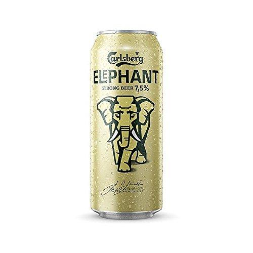 12 Dosen a 0,5L Elephant Carlsberg Starkbier 7,5% Bier Elefant inc. 3€ EINWEG Pfand