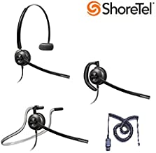 ShoreTel Compatible Plantronics EncorePro 540 Noise-Canceling Headset Bundle for ShoreTel IP 420 480 480G 485
