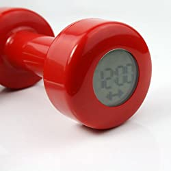 Njoy2Buy Novel Creative Red Dumbbell Alarm Clock Shape up 30 Times New