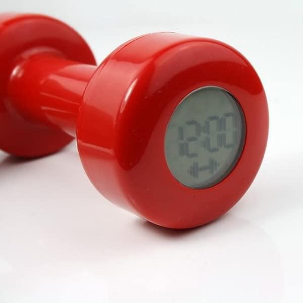 新颖创意红色哑铃闹钟造型高达 30 倍新款