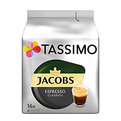 Tassimo Jacobs Espresso, Rainforest Alliance Certified, Pack of 5, 5 x 16 T-Discs