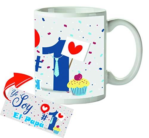 Kembilove Tazas de Desayuno Originales para Padres – Taza con Mensaje Yo Soy el Papá #1 – Taza de Desayuno para Regalar el día del Padre – Tazas de Café para Padres y Abuelos