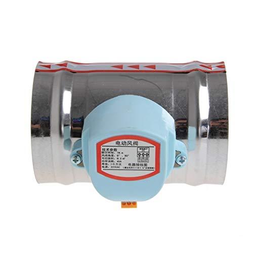 Válvula de desviador Volumen 4 pulgadas 220V 100 mm de acero inoxidable válvula de solenoide de acero inoxidable válvula de aire de aire válvula de control de la válvula de aire eléctrica inoxidable A
