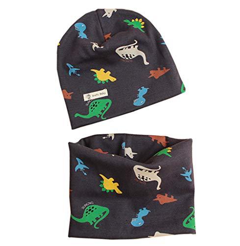 PAADIYA Boomly Autunno e Inverno Carino Morbida Caldo Set di Cappello Sciarpa Berretto in Cotone Scaldacollo Sciarpa per Bambino o-ring Sciarpa Infantile