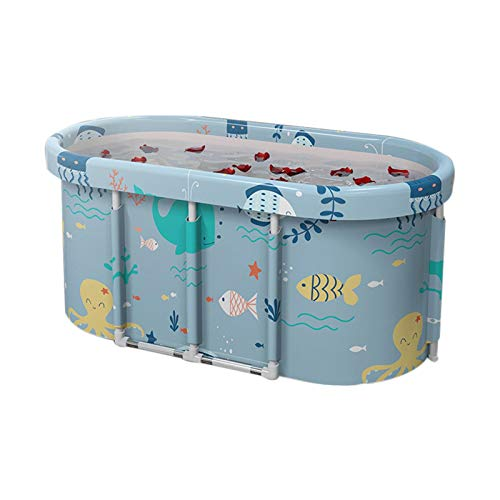 sakulala Foldable Bathtub Portable Soaking Bath Tub Bathing Tub for Shower Stall Portable Bath Tub