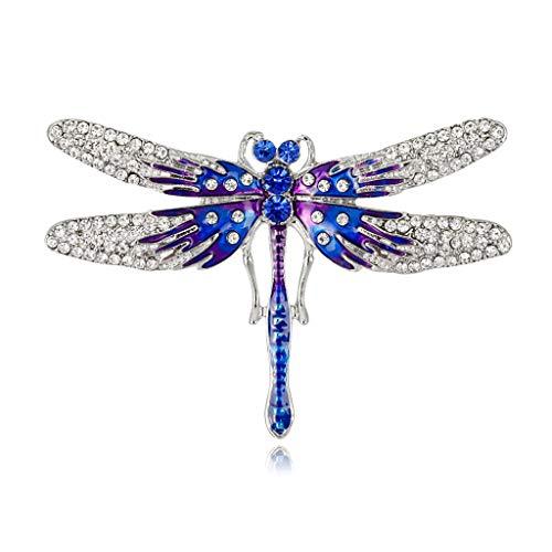 DREAMDEER Broche Moda Insectos Ropa Mochila Pines Esmalte Ramillete Icono De Insignia - Azul