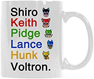 Voltron Shiro Keith Lance Hunk Pidge?Coffee?Mug?or?Tea?Cup Ceramic?Material?Mugs White?11OZ Inspirational gifts for friends?