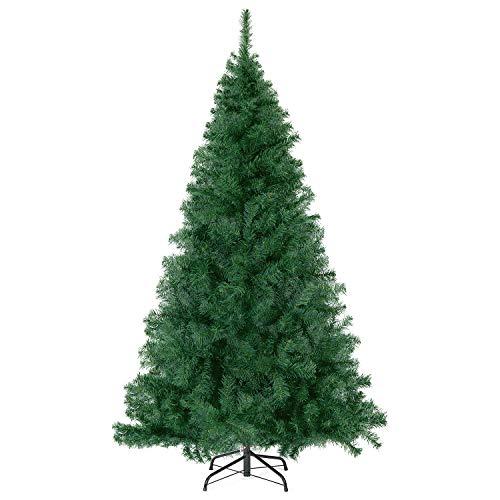 SALCAR Premium Weihnachtsbaum 270cm - Künstlicher Baum - Keine störenden Tannennadeln - Geruchslos - Christbaum - Dunkelgrün - 2,7m